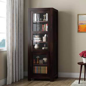 Murano Single-Door Display Cabinet (Mahogany Finish) by Urban Ladder
