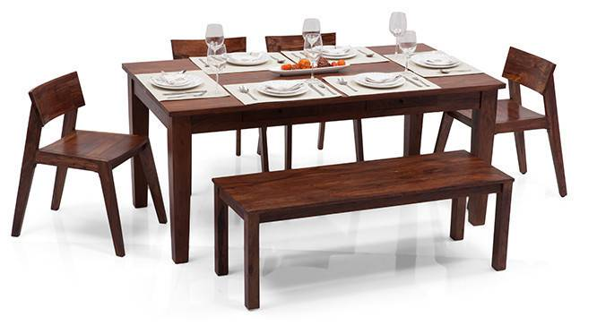 Oliver Gordon 6 Seater Storage Dining Table Set With  : OliverGordonBenchTeak01IMG0316 from www.urbanladder.com size 666 x 363 jpeg 63kB