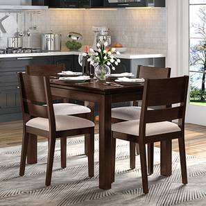 Diner cabalo fabric 4 seater dining table set lp