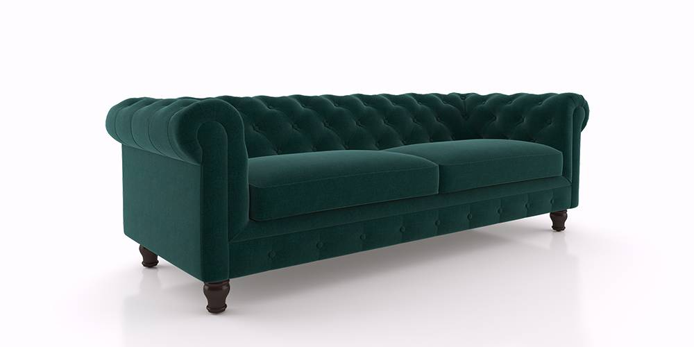 Winchester Fabric Sofa (Malibu Blue) by Urban Ladder