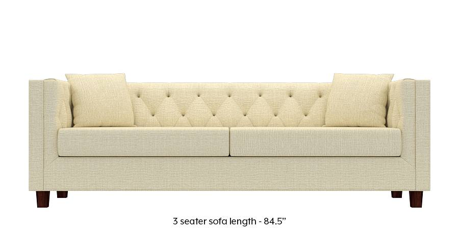 Windsor Sofa (Ivory White) (Ivory, Fabric Sofa Material, Regular Sofa Size, Regular Sofa Type) by Urban Ladder