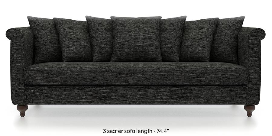 Marlene Sofa (Cosmic Grey) (Cosmic, Fabric Sofa Material, Regular Sofa Size, Regular Sofa Type) by Urban Ladder