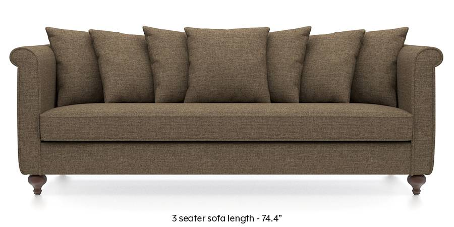 Marlene Sofa (Dune Brown) (Dune, Fabric Sofa Material, Regular Sofa Size, Regular Sofa Type) by Urban Ladder