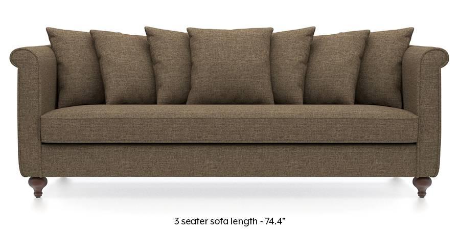 Marlene Sofa (Dune Brown) (Dune, Fabric Sofa Material, Regular Sofa Size, Regular Sofa Type) by Urban Ladder
