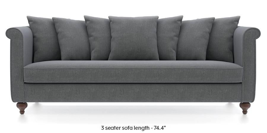 Marlene Sofa (Smoke Grey) (Smoke, Fabric Sofa Material, Regular Sofa Size, Regular Sofa Type) by Urban Ladder