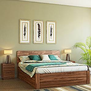 Boston Storage Essential Bedroom  Set (Teak Finish) (Queen Bed Size)