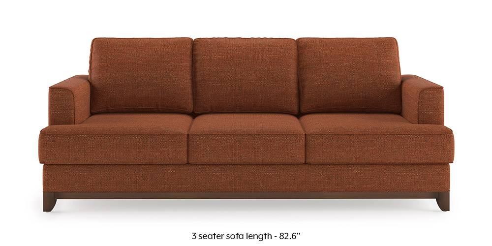 Halden Sofa (Lava Rust) (1-seater Custom Set - Sofas, None Standard Set - Sofas, Lava, Fabric Sofa Material, Regular Sofa Size, Regular Sofa Type) by Urban Ladder