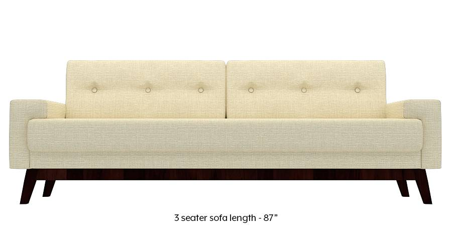 Venetti Sofa (Ivory White) (Ivory, Fabric Sofa Material, Regular Sofa Size, Regular Sofa Type) by Urban Ladder
