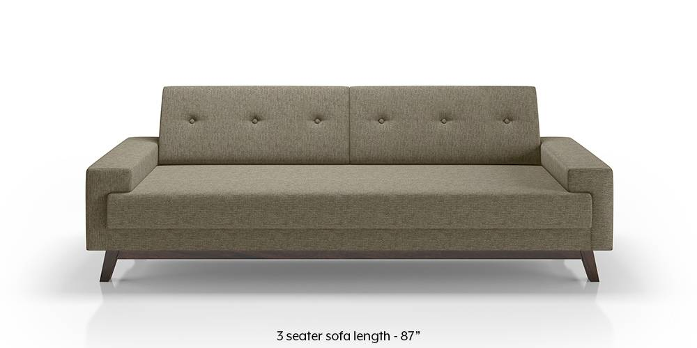 Venetti Sofa (Mist Brown) (Mist, Fabric Sofa Material, Regular Sofa Size, Regular Sofa Type) by Urban Ladder