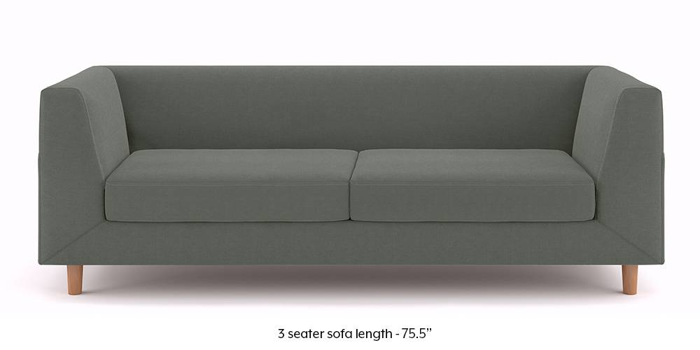 Rubik Sofa (Charcoal Grey) (3-seater Custom Set - Sofas, None Standard Set - Sofas, Charcoal Grey, Fabric Sofa Material, Regular Sofa Size, Regular Sofa Type) by Urban Ladder