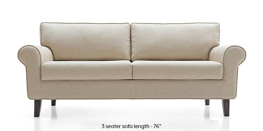 Oxford Sofa (Pearl White) (Pearl, Fabric Sofa Material, Regular Sofa Size, Regular Sofa Type) by Urban Ladder