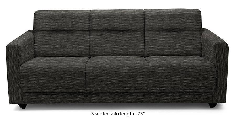 Lloyd Sofa (Cosmic Grey) (Cosmic, Fabric Sofa Material, Compact Sofa Size, Regular Sofa Type) by Urban Ladder