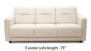 Lloyd Sofa (Pearl White) (Pearl, Fabric Sofa Material, Compact Sofa Size, Regular Sofa Type) by Urban Ladder