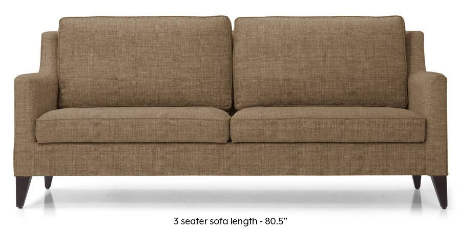 Greenwich Sofa (Dune Brown) (Dune, Fabric Sofa Material, Regular Sofa Size, Regular Sofa Type) by Urban Ladder