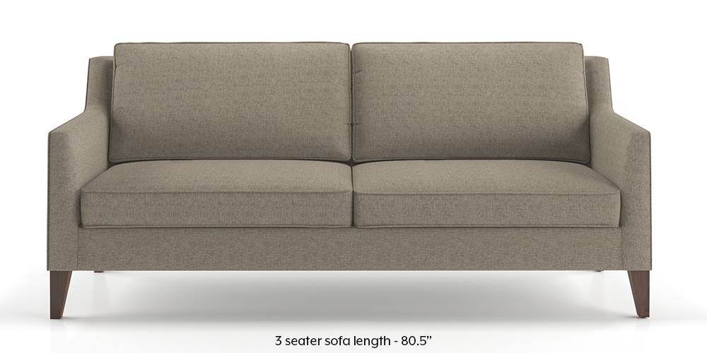Greenwich Sofa (Mist Brown) (Mist, Fabric Sofa Material, Regular Sofa Size, Regular Sofa Type) by Urban Ladder
