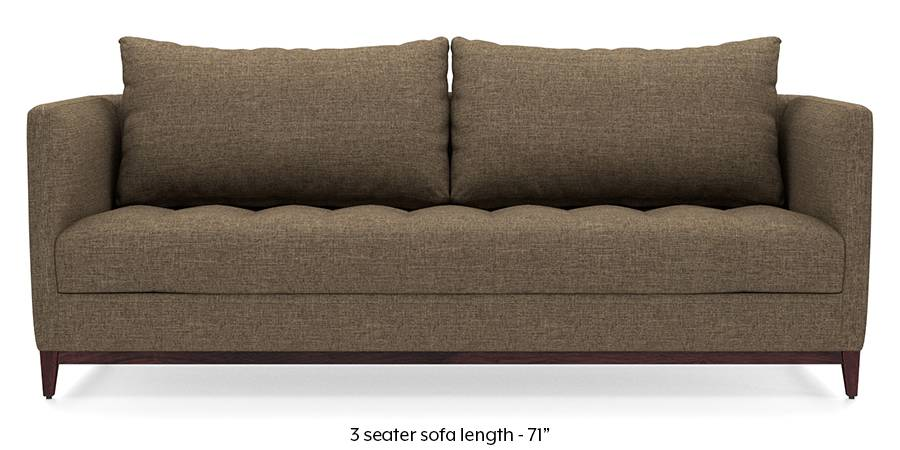 Florence Compact Sofa (Dune Brown) (Dune, Fabric Sofa Material, Compact Sofa Size, Regular Sofa Type) by Urban Ladder