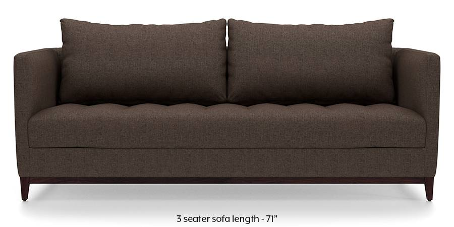 Florence Compact Sofa (Mocha Brown) (Mocha, Fabric Sofa Material, Compact Sofa Size, Regular Sofa Type) by Urban Ladder