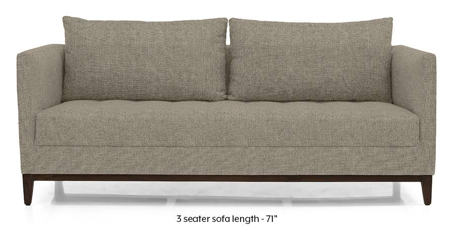 Florence Compact Sofa (Mist Brown) (Mist, Fabric Sofa Material, Compact Sofa Size, Regular Sofa Type) by Urban Ladder