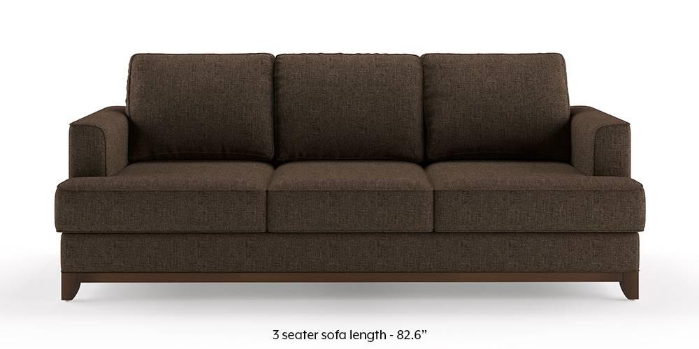 Halden Sofa (Mocha Brown) (1-seater Custom Set - Sofas, None Standard Set - Sofas, Mocha, Fabric Sofa Material, Regular Sofa Size, Regular Sofa Type) by Urban Ladder