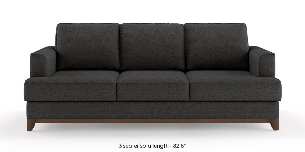 Halden Sofa (Steel Grey) (1-seater Custom Set - Sofas, None Standard Set - Sofas, Steel, Fabric Sofa Material, Regular Sofa Size, Regular Sofa Type) by Urban Ladder
