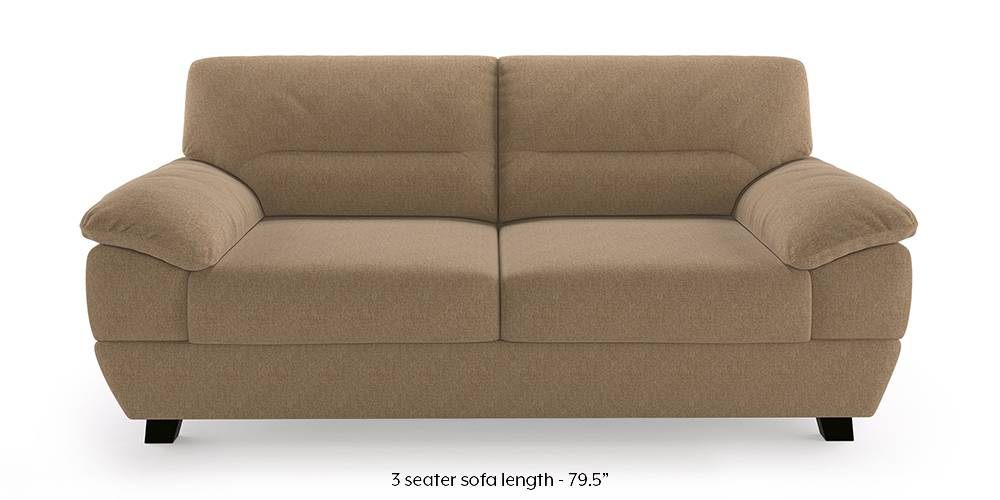 Alora Sofa (Mist) (3-seater Custom Set - Sofas, None Standard Set - Sofas, Mist, Fabric Sofa Material, Regular Sofa Size, Regular Sofa Type) by Urban Ladder