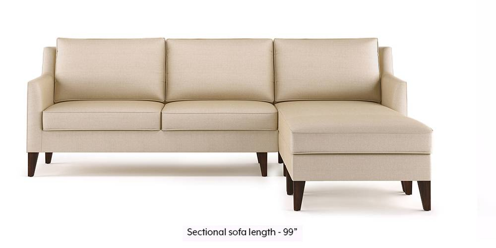 Greenwich Sectional Sofa (Pearl White) (Pearl, Ottoman Custom Set - Sofas, None Standard Set - Sofas, Fabric Sofa Material, Regular Sofa Size, Regular Sofa Type) by Urban Ladder