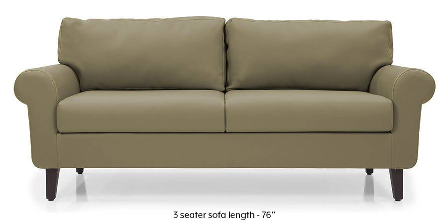 Oxford Leatherette Sofa (Cappuccino) (Cappuccino, Leatherette Sofa Material, Regular Sofa Size, Regular Sofa Type) by Urban Ladder