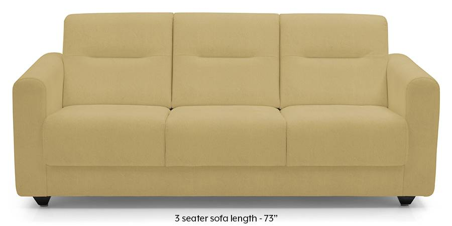 Lloyd Leatherette Sofa (Butterscotch) (Butterscotch, Leatherette Sofa Material, Compact Sofa Size, Regular Sofa Type) by Urban Ladder
