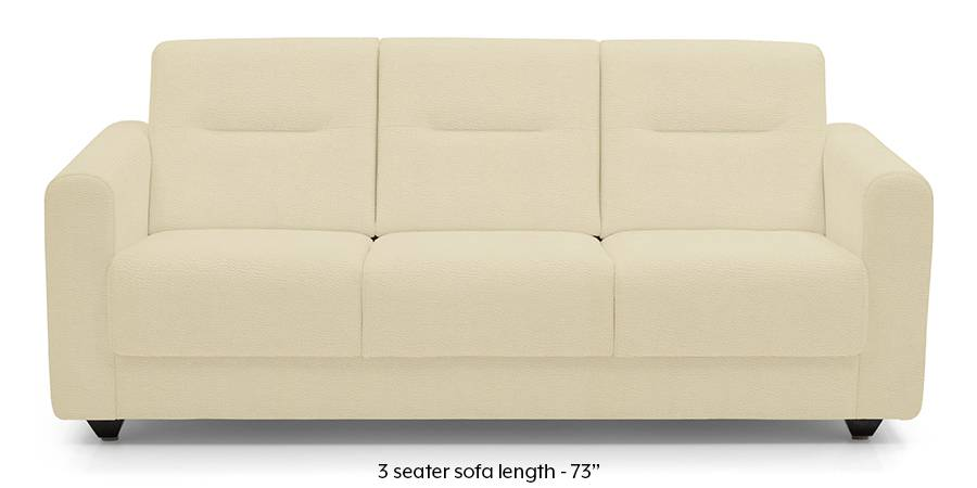 Lloyd Leatherette Sofa (Cream) (Cream, Leatherette Sofa Material, Compact Sofa Size, Regular Sofa Type) by Urban Ladder