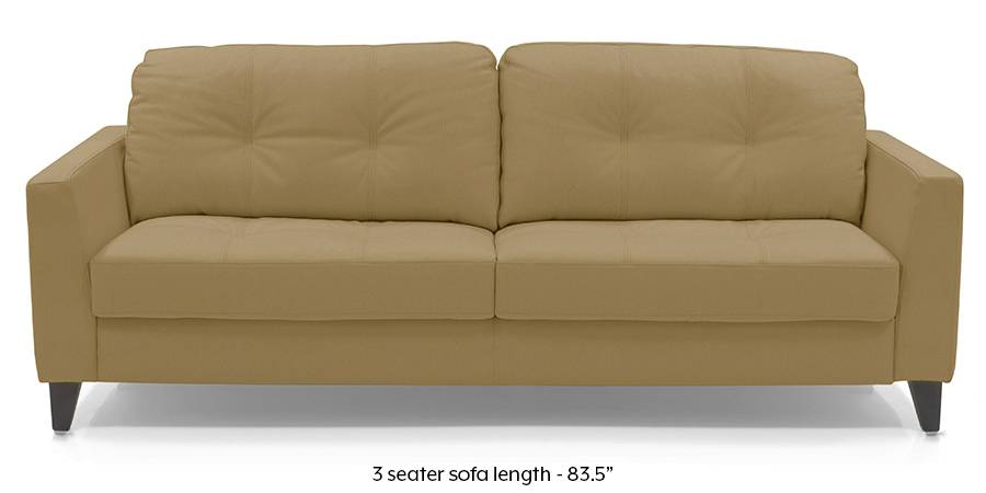 Franco Sofa (Camel Italian Leather) (Camel, Regular Sofa Size, Regular Sofa Type, Leather Sofa Material) by Urban Ladder