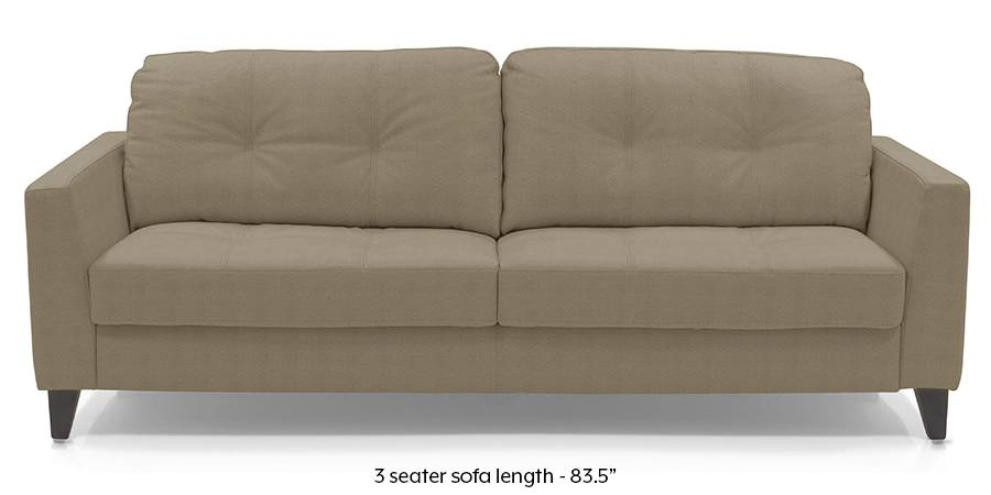 Franco Sofa (Cappuccino Italian Leather) (Cappuccino, Regular Sofa Size, Regular Sofa Type, Leather Sofa Material) by Urban Ladder