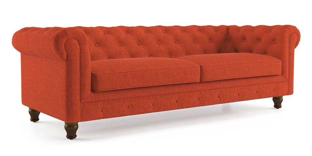 Winchester Fabric Sofa (Lava Rust) by Urban Ladder