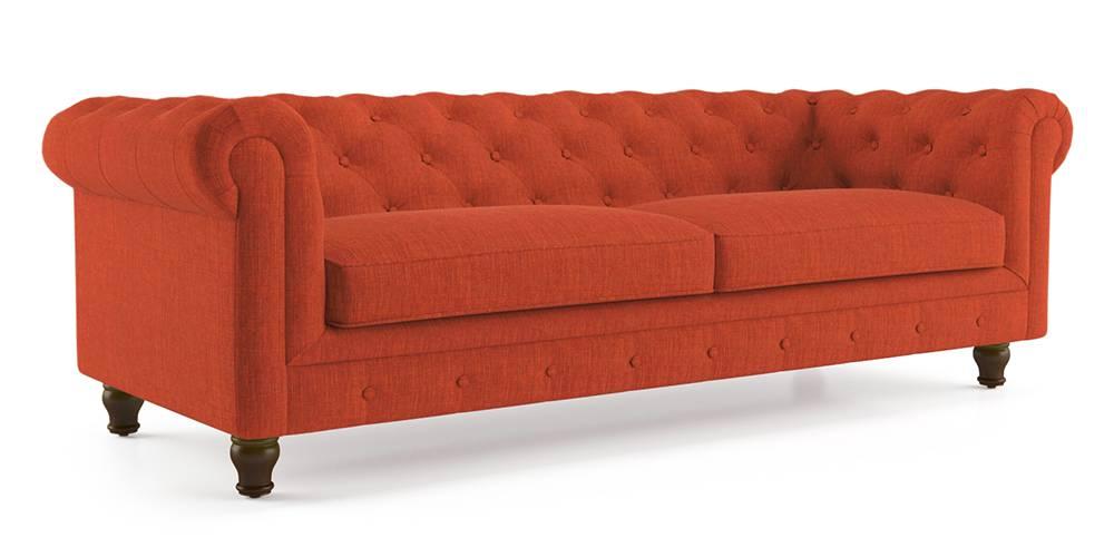 Winchester Fabric Sofa (Lava Rust) by Urban Ladder