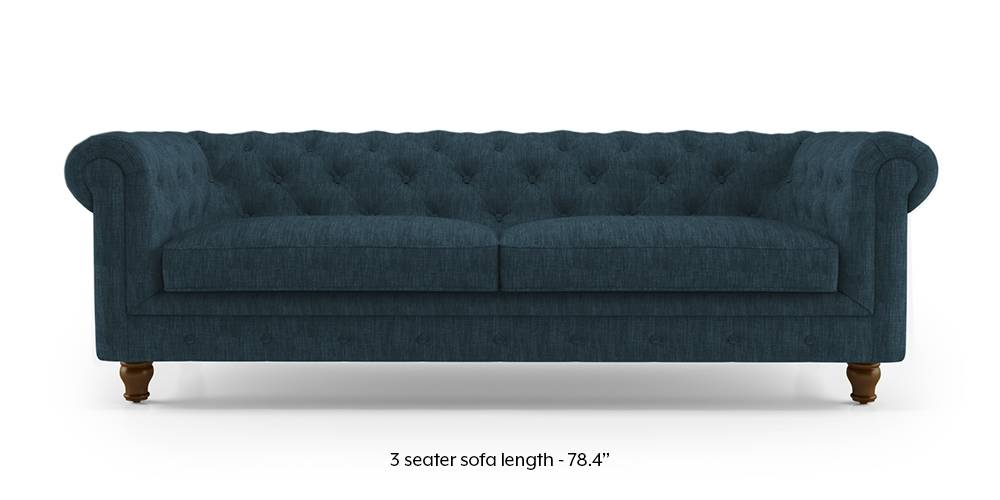 Winchester Fabric Sofa (Indigo Blue) by Urban Ladder