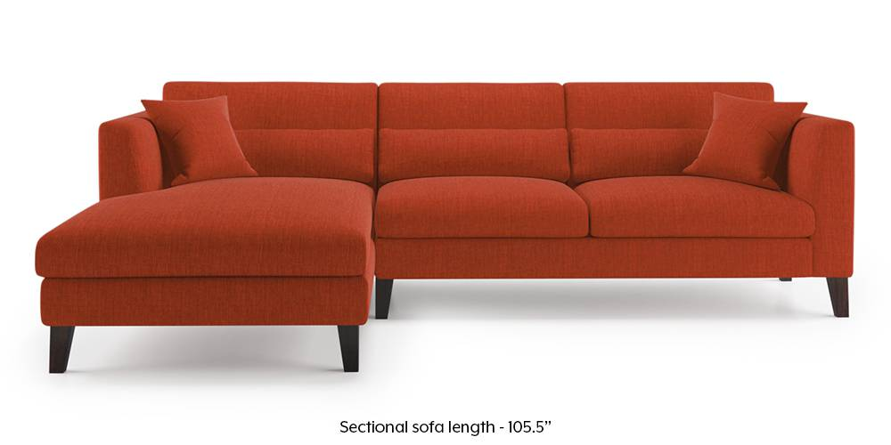Lewis Sectional Sofa (Lava Rustt) by Urban Ladder