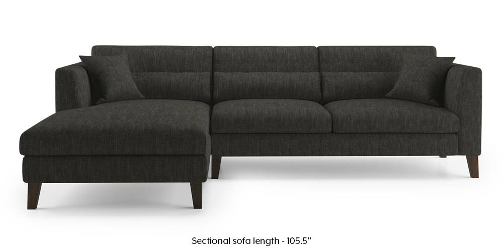 Lewis Sectional Sofa (Graphite Grey) by Urban Ladder