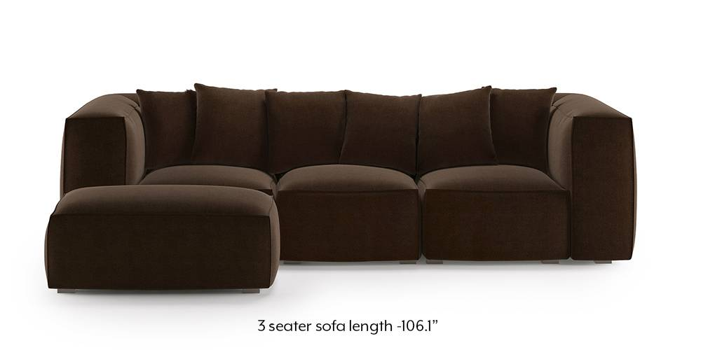 Chapman Modular Sofa (Dark Earth) by Urban Ladder