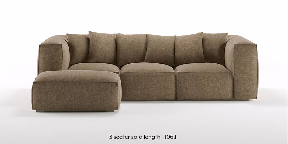 Chapman Modular Sofa (Dune Brown) by Urban Ladder