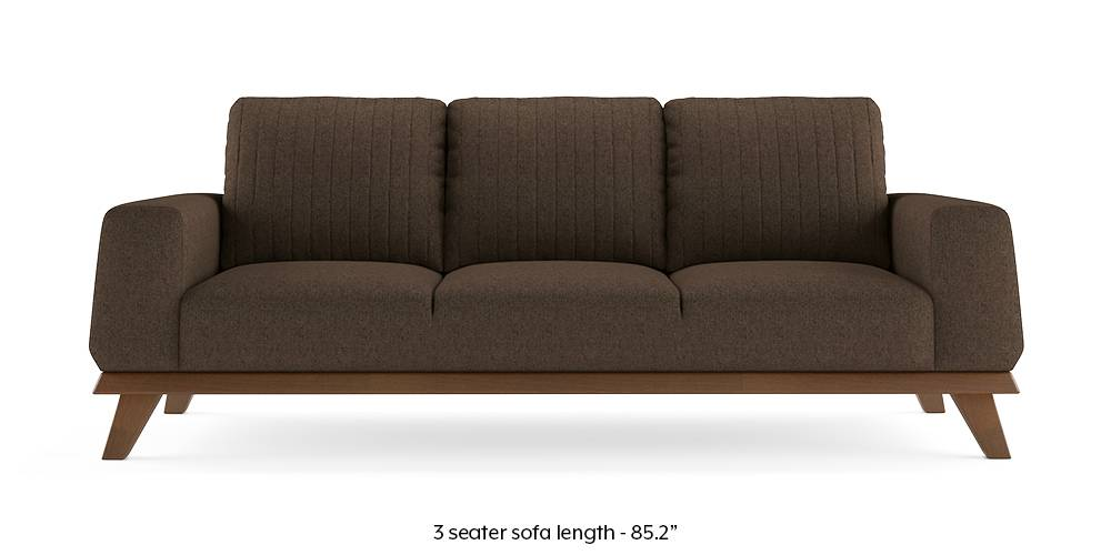 Granada Sofa (Mocha Brown) (1-seater Custom Set - Sofas, None Standard Set - Sofas, Mocha, Fabric Sofa Material, Regular Sofa Size, Regular Sofa Type) by Urban Ladder