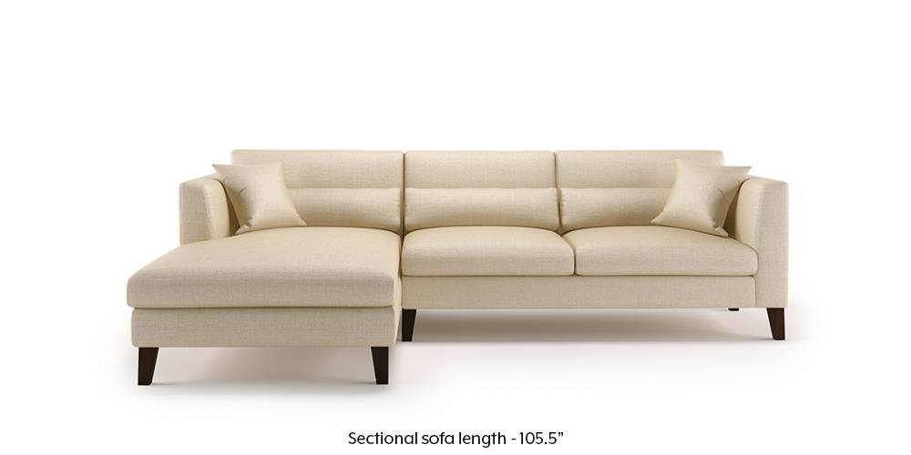 Lewis Sectional Sofa (Pearl White) by Urban Ladder