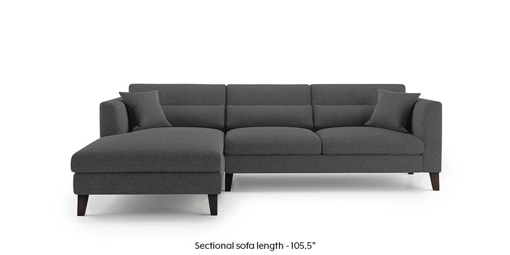 Lewis Sectional Sofa (Steel Grey) by Urban Ladder