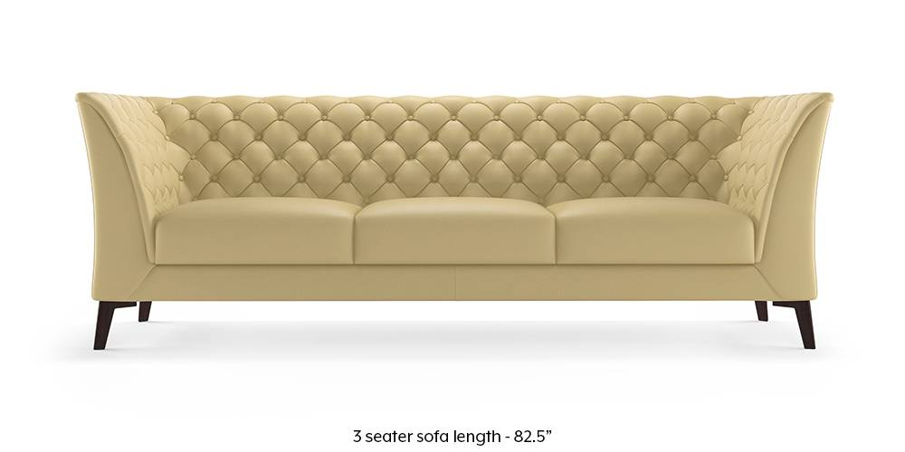 Weston Half Leather Sofa(Cream) (Cream, Cream, 1-seater Custom Set - Sofas, 2-seater Custom Set - Sofas, None Standard Set - Sofas, None Standard Set - Sofas, Regular Sofa Size, Regular Sofa Size, Regular Sofa Type, Regular Sofa Type, Leather Sofa Material, Leather Sofa Material) by Urban Ladder
