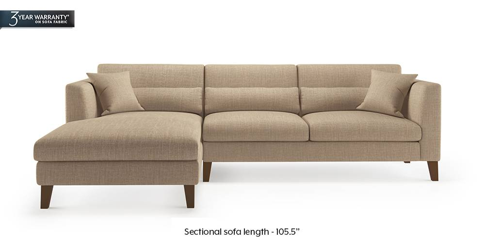 Lewis Sectional Sofa (Sandshell Beige) by Urban Ladder