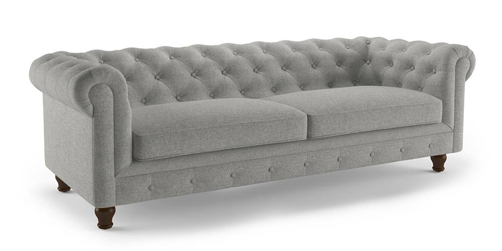 Winchester Fabric Sofa (Vapour Grey) by Urban Ladder