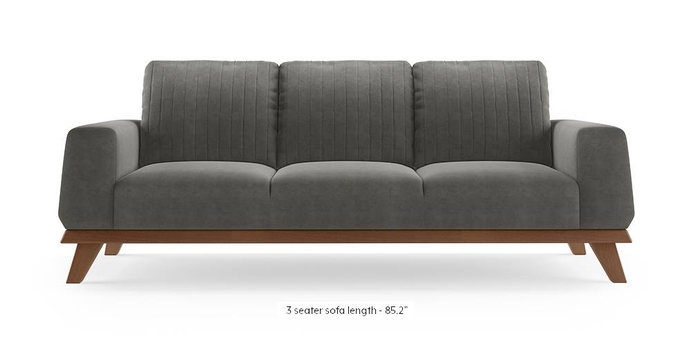 Granada Sofa (Ash Grey Velvet) by Urban Ladder