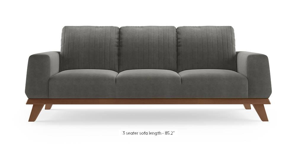 Granada Sofa (Ash Grey Velvet) by Urban Ladder