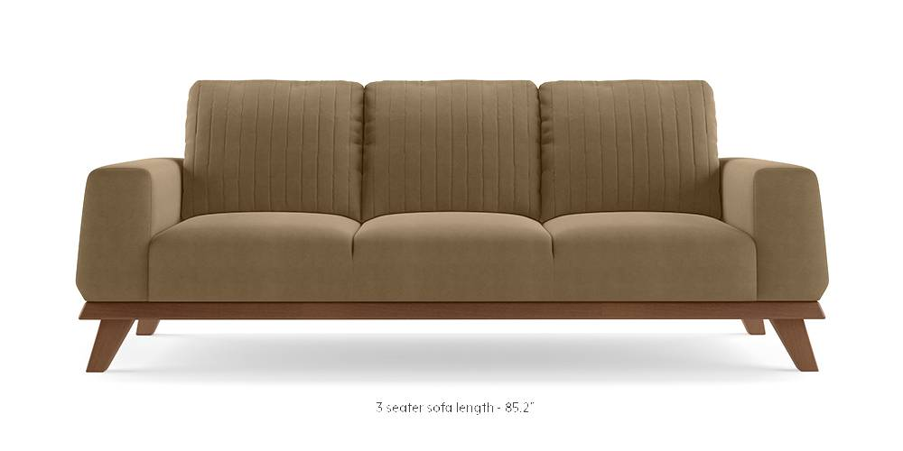 Granada Sofa (Tuscan Tan Velvet) by Urban Ladder