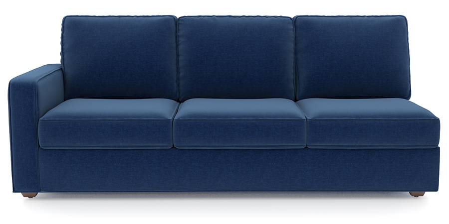 Apollo Sofa Set (Cobalt, Fabric Sofa Material, Regular Sofa Size, Soft Cushion Type, Sectional Sofa Type, Right Aligned 3 Seater Sofa Component) by Urban Ladder