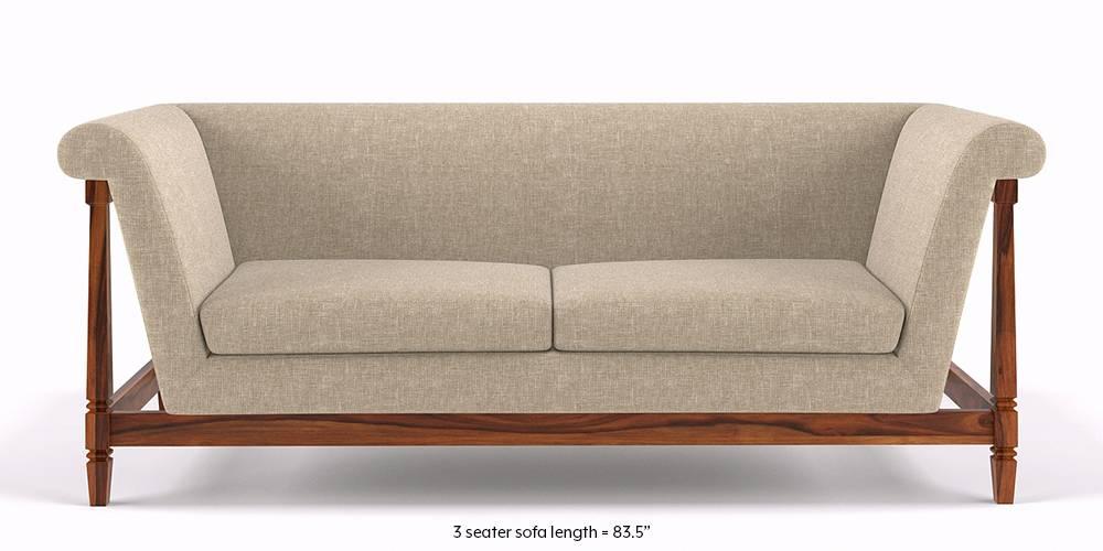 Malabar Wooden Sofa (Macadamia Brown) by Urban Ladder