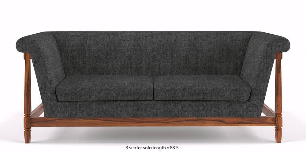 Malabar Wooden Sofa (Smoke Grey) by Urban Ladder
